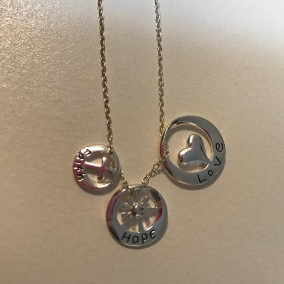 Jewelry faith hope love pendant necklace poshmark faith hope love pendant necklace aloadofball Gallery